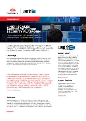 Case Study: Equinix and Link11 Connect their Platforms