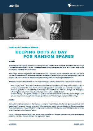Case Study: Keeping Bots at Bay for Ransom Spares